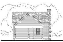 Cottage Exterior - Rear Elevation Plan #406-215
