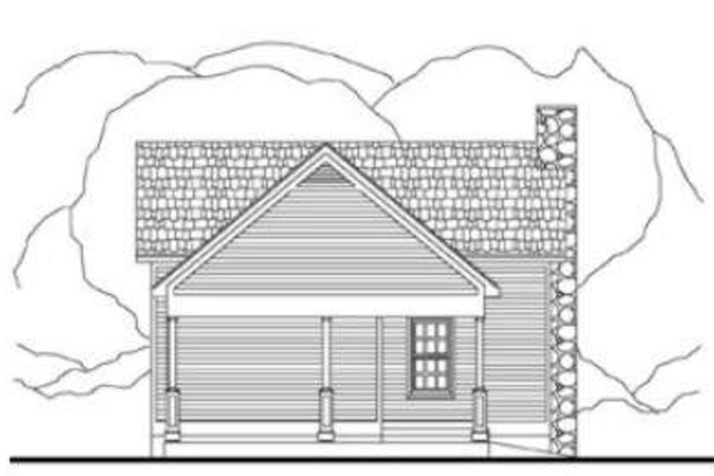 Cottage Exterior - Rear Elevation Plan #406-215 - Houseplans.com
