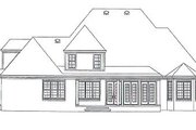 Southern Style House Plan - 4 Beds 4 Baths 3792 Sq/Ft Plan #81-1285 Exterior - Rear Elevation