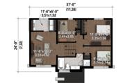 Contemporary Style House Plan - 3 Beds 1 Baths 1426 Sq/Ft Plan #25-4298 Floor Plan - Upper Floor Plan