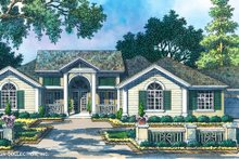 Classical Exterior - Front Elevation Plan #930-80