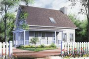 Traditional Style House Plan - 3 Beds 1.5 Baths 1538 Sq/Ft Plan #23-222 Exterior - Front Elevation