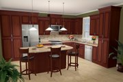 Country Style House Plan - 3 Beds 2.5 Baths 2000 Sq/Ft Plan #21-197