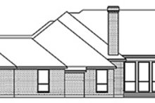 European Exterior - Rear Elevation Plan #84-259