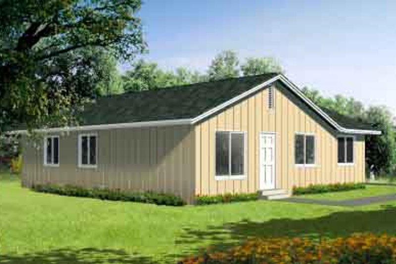 Ranch Style House Plan - 4 Beds 2 Baths 1240 Sq/Ft Plan #1-209
