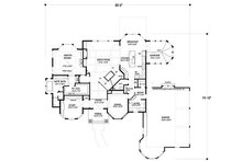 European Floor Plan - Main Floor Plan Plan #56-591