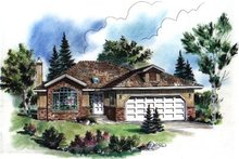 Traditional Exterior - Front Elevation Plan #18-181