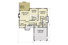 Craftsman Floor Plan - Main Floor Plan Plan #1070-11