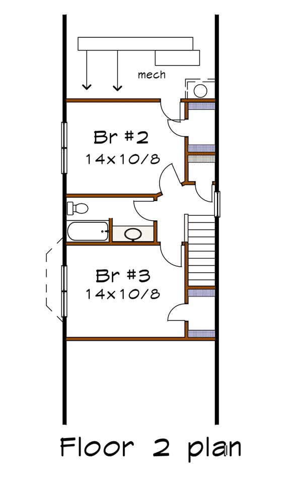 House Plan Design - Cottage Floor Plan - Lower Floor Plan #79-176