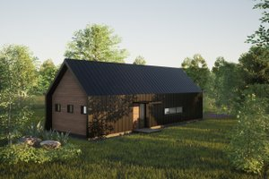 Modern Exterior - Front Elevation Plan #933-11