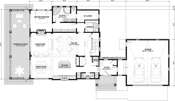 Bungalow Floor Plan - Main Floor Plan Plan #928-330