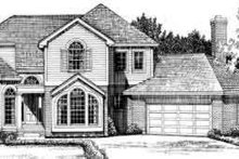 House Blueprint - European Exterior - Front Elevation Plan #72-461
