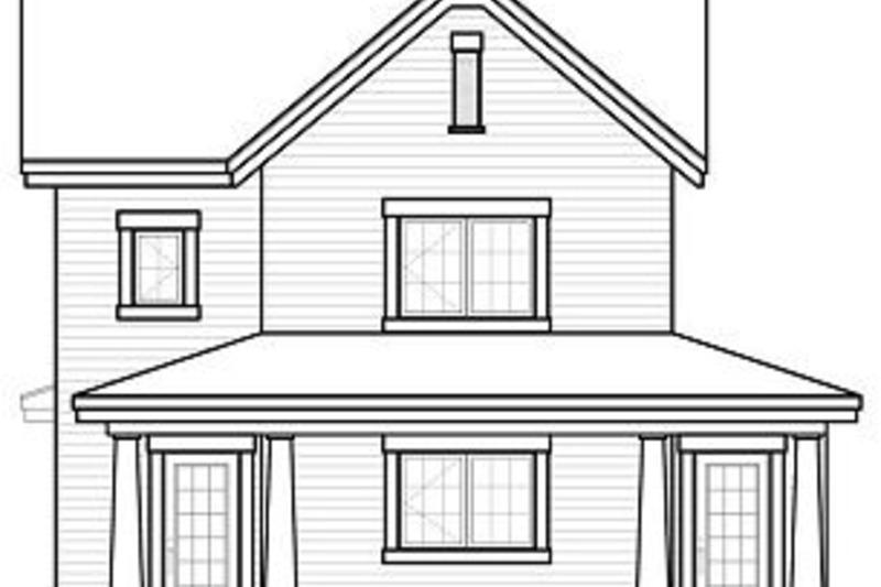 Farmhouse Exterior - Rear Elevation Plan #23-741 - Houseplans.com