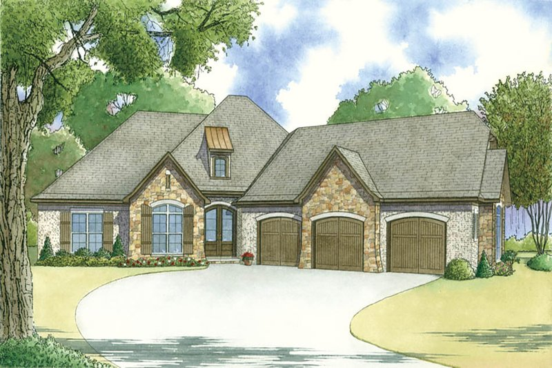 Traditional Exterior - Front Elevation Plan #923-29