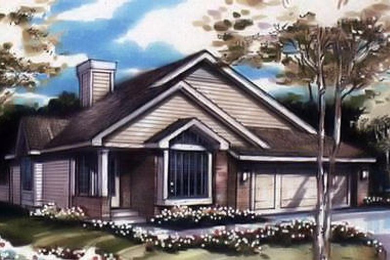 Traditional Exterior - Front Elevation Plan #320-481 - Houseplans.com