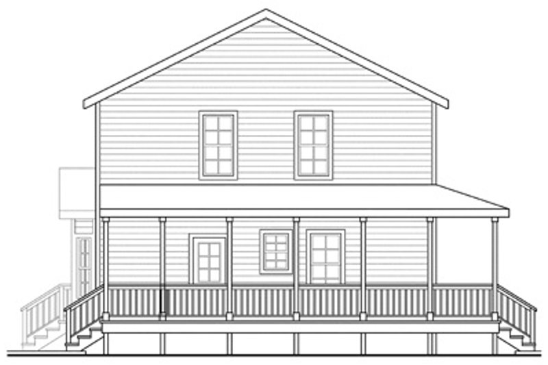 Traditional Exterior - Other Elevation Plan #124-852 - Houseplans.com