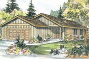 Ranch Style House Plan - 3 Beds 2 Baths 1237 Sq/Ft Plan #124-724 Exterior - Front Elevation