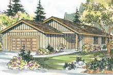 Dream House Plan - Ranch Exterior - Front Elevation Plan #124-724