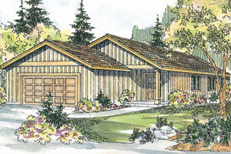 Ranch Exterior - Front Elevation Plan #124-724 - Houseplans.com