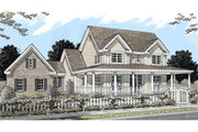 Country Style House Plan - 4 Beds 3 Baths 2252 Sq/Ft Plan #20-2041 Exterior - Front Elevation