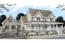 Country Exterior - Front Elevation Plan #20-2041