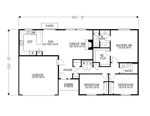 Craftsman Floor Plan - Main Floor Plan #53-529