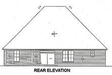 European Exterior - Rear Elevation Plan #310-665