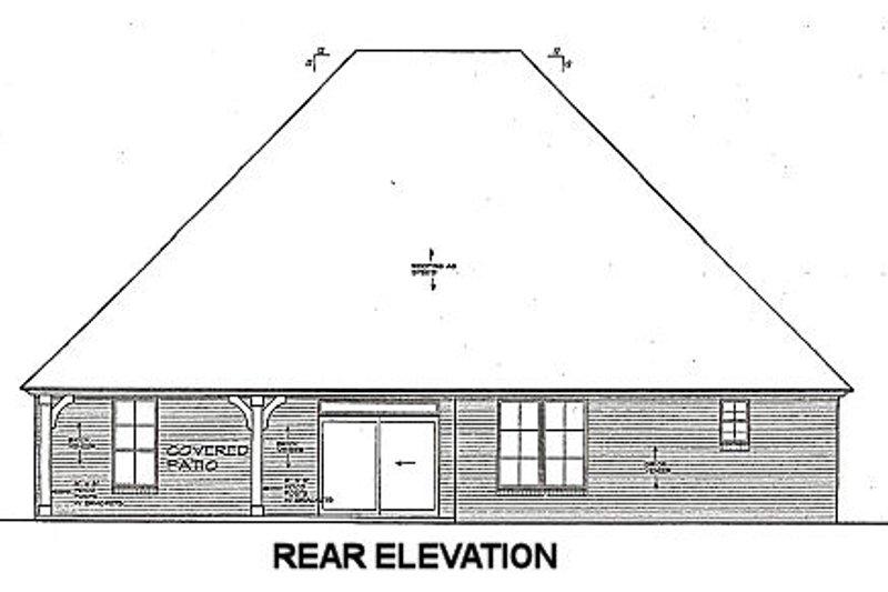 European Exterior - Rear Elevation Plan #310-665 - Houseplans.com