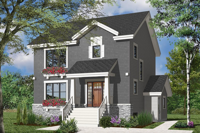 Architectural House Design - Traditional Exterior - Front Elevation Plan #23-2507