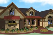 Craftsman Style House Plan - 4 Beds 3 Baths 2202 Sq/Ft Plan #51-511 Exterior - Other Elevation