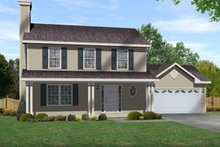 Home Plan - Country Exterior - Front Elevation Plan #22-531