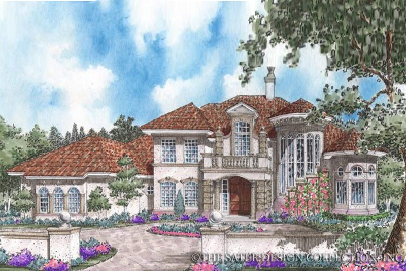 House Plan Design - Mediterranean Exterior - Front Elevation Plan #930-260