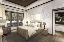 Architectural House Design - Cottage Interior - Master Bedroom Plan #406-9654
