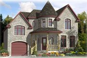 European Style House Plan - 3 Beds 1.5 Baths 1516 Sq/Ft Plan #138-302 Exterior - Front Elevation