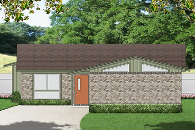 Modern Exterior - Front Elevation Plan #84-515