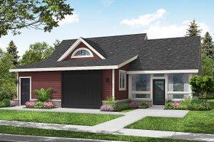 Cottage Exterior - Front Elevation Plan #124-1258