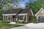 Cottage Style House Plan - 2 Beds 1 Baths 948 Sq/Ft Plan #23-116 Exterior - Front Elevation
