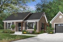 House Plan Design - Cottage Exterior - Front Elevation Plan #23-116