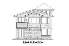 House Plan Design - Craftsman Exterior - Rear Elevation Plan #48-266