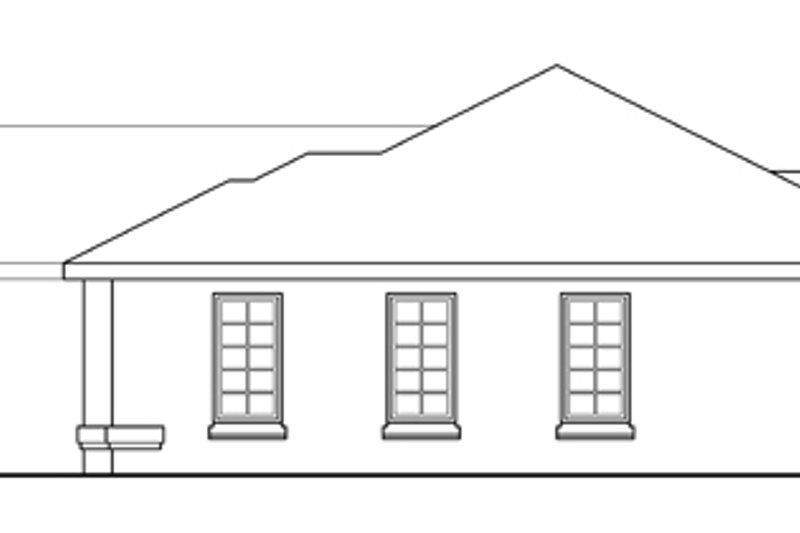 Traditional Exterior - Other Elevation Plan #124-256 - Houseplans.com