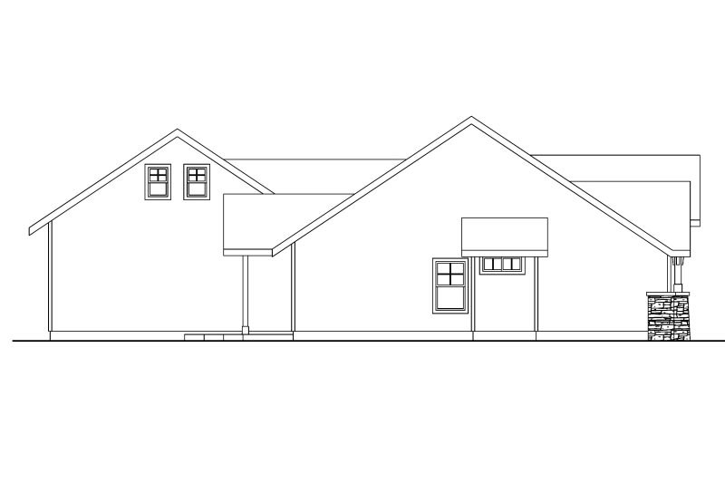 Craftsman Exterior - Other Elevation Plan #124-583 - Houseplans.com
