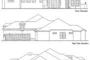 European Style House Plan - 4 Beds 4 Baths 3066 Sq/Ft Plan #135-127 Exterior - Rear Elevation