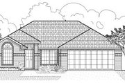 Traditional Style House Plan - 3 Beds 2 Baths 1425 Sq/Ft Plan #65-225 Exterior - Front Elevation