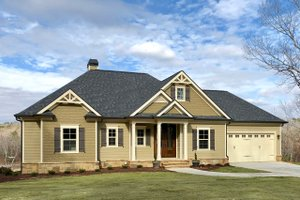 Ranch Exterior - Front Elevation Plan #437-77