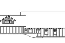 Home Plan Design - Bungalow Exterior - Rear Elevation Plan #124-485