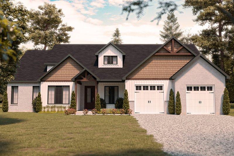 Architectural House Design - Farmhouse Exterior - Front Elevation Plan #23-2750