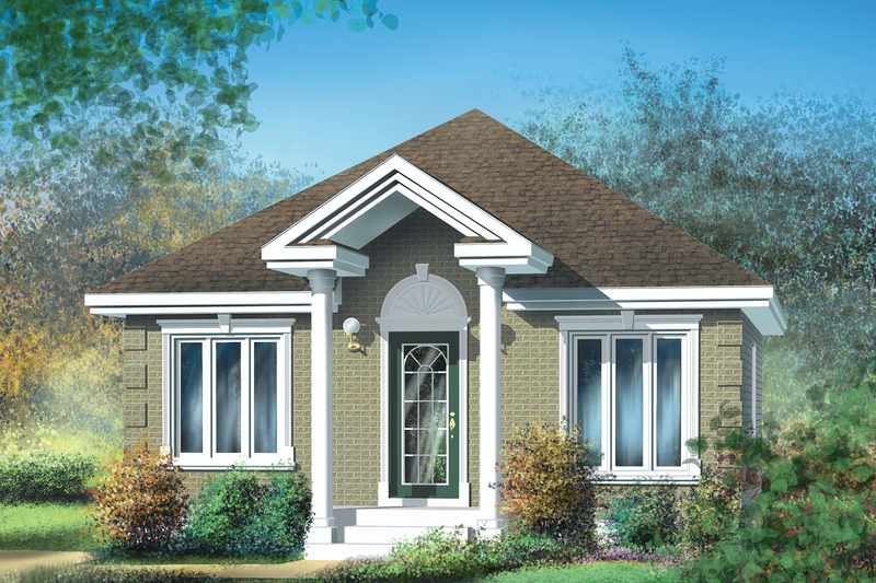Cottage Style House Plan - 2 Beds 1 Baths 780 Sq/Ft Plan #25-103 Exterior - Front Elevation