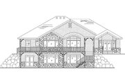 European Style House Plan - 5 Beds 4 Baths 2061 Sq/Ft Plan #5-266 Exterior - Rear Elevation