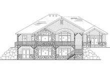 Home Plan - European Exterior - Rear Elevation Plan #5-266