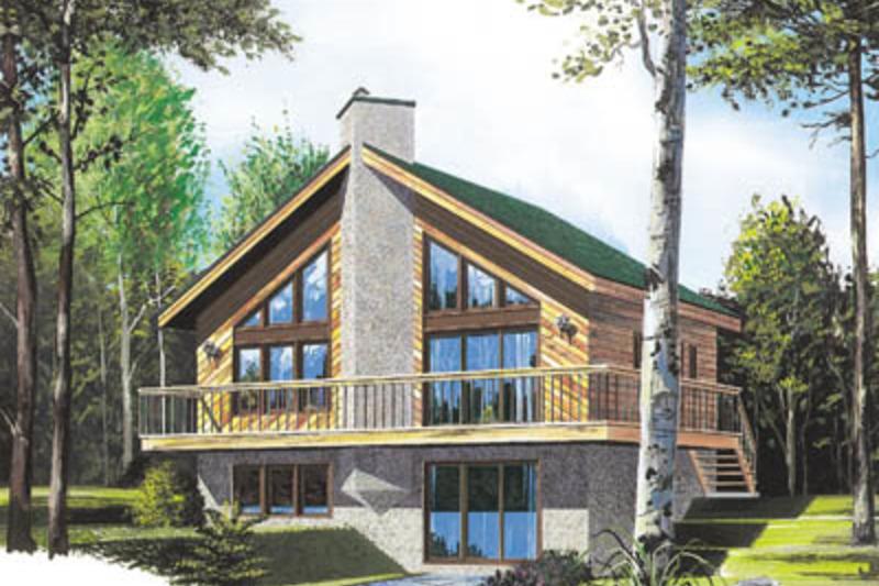 Modern Exterior - Front Elevation Plan #23-2021